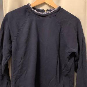 JCrew Ruffleneck Sweatshirt w/zipper